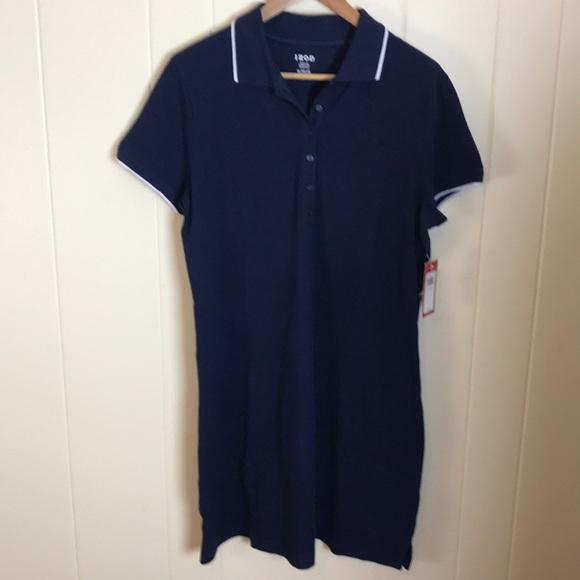 cdb711f2dda887 Izod Dresses | Button Front Navy Shirt Dress | Poshmark